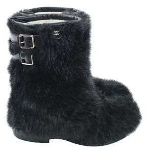 Chanel Faux Fur Fleece Boots
