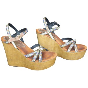 Sbicca Wedge Aztec Sandals