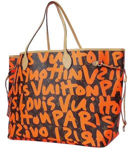 Louis Vuitton Shopping Tote in brown, Orange