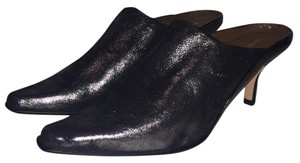 Donald J. Pliner Black/Metallic Mules