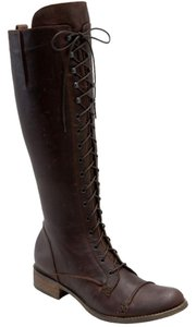 Charles David Lace Boot Brown Boots