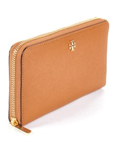 Tory Burch Leather Continental Zip Around Wallet