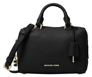 Michael Kors Kors Mk White Nwt 190049465424 Satchel in Black