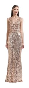 Badgley Mischka Sequin Blush Gown Sparkly Dress