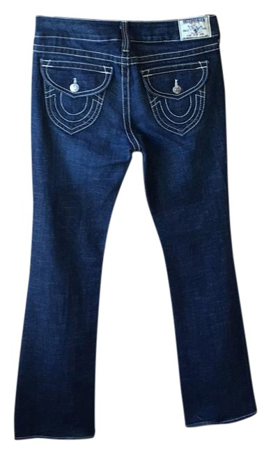 Item - Dark Blue with White Stitching Detail Rinse Becky Boot Cut Jeans Size 30 (6, M)