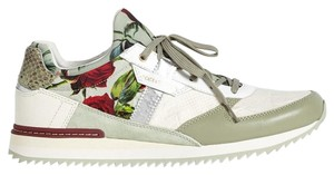 Dolce&Gabbana Leather Floral Athletic