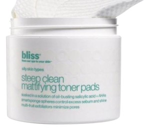 """Bliss bliss """"Steep Clean Mattifying Toner Pads"""" 50 Pads"""