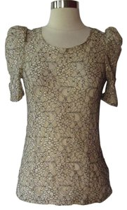 Miss Me Top Beige/ Gold/ Black
