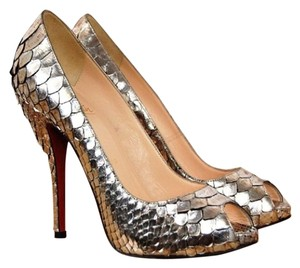 Christian Louboutin Pewter- Designer Color: Antic Silver Platforms