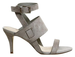 Office Heels Sexy Cut-out Grey Sandals