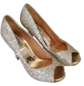 Badgley Mischka Sparkly Silver Formal