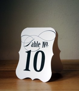 Tent Card Table Numbers