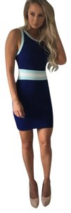 Knitenjin short dress Blue and white on Tradesy