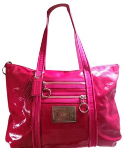 Coach Poppy Tote in Hot Pink