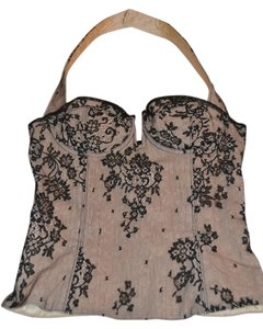 Dior Bustier Lace Top Black and Ivory
