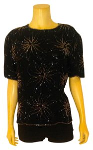 J Laxmi Sequins Size Medium Top black