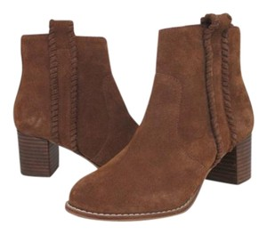 Coconuts by Matisse Chunky Heel Block Heel Suede Stitched Stacked Heel brown Boots