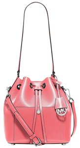 Michael Kors Greenwich Saffiano Leather Bucket Shoulder Bag