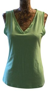Banana Republic V-neck Top mint green