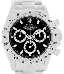 Rolex Rolex Daytona Stainless Steel Black Dial Watch 116520 Box Papers