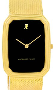 Audemars Piguet Audemars Piguet 18K Yellow Gold Black Dial Manual Winding Watch 4013