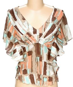 BCBGMAXAZRIA Watercolor Print Top