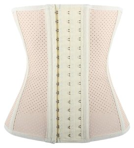 Lover-Beauty Waist Training Cincher Steel Boned Waist Shaper Shaper Top Beige