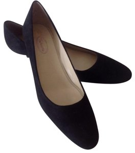 Talbots Suede Kitten Heel Leather Black Pumps