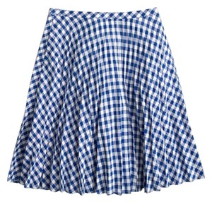 J.Crew Mini Skirt cobalt blue ivory