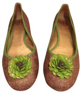 Tory Burch Reva Bronze/Gold/Green Flats