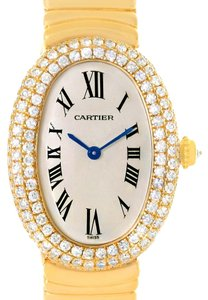 Cartier Cartier Baignoire Joaillerie 18K Yellow Gold Diamond Ladies Watch 1950