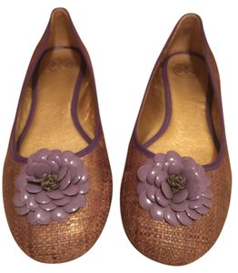 Tory Burch Reva Bronze/Gold/Purple Flats