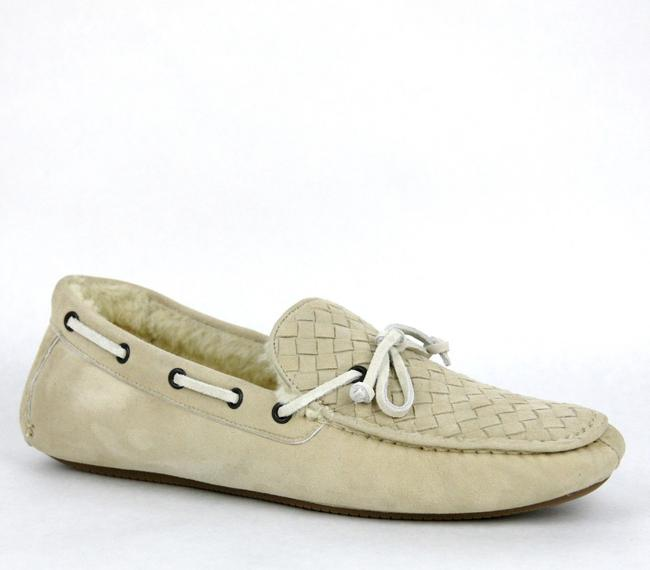 Item - Beige Suede Shearling Woven Loafer Moccasin It 42 / Us 9 337959 9705 Shoes