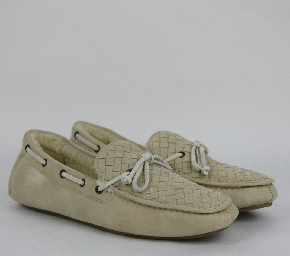 Us 9 337959 42 Woven Suede Shearling Bottega Moccasin Loafer It Veneta Beige Shoes 9705 w6UAnxZSzq