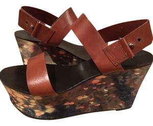 Vera Wang Lavender Label Limited Edition Leather Wedge Multi Wedges