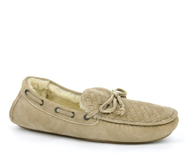 Item - Tan Suede Shearling Woven Loafer Moccasin It 42 / Us 9 337959 2608 Shoes