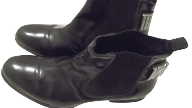 Item - Black and Silver Ankle Studded Boots/Booties Size US 6.5 Regular (M, B)
