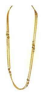 Chanel Chanel Vintage Goldtone Necklace with Pave Stones