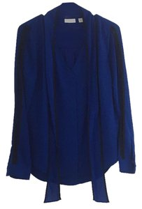 New York & Company Top Royal blue and black