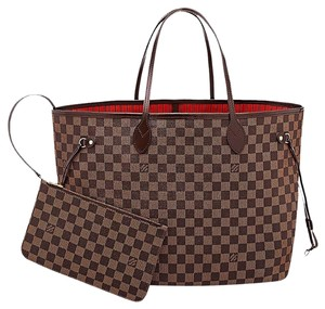 Louis Vuitton Neverfull Gm Damier Ebene Tote in Brown