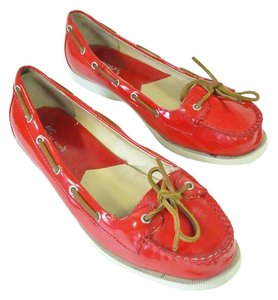 Michael Kors Patent Leather Moccasins Red Flats
