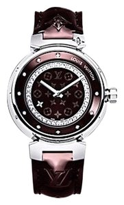 Louis Vuitton Tambour 34mm Diamond-Paved Disc Women's Timepiece