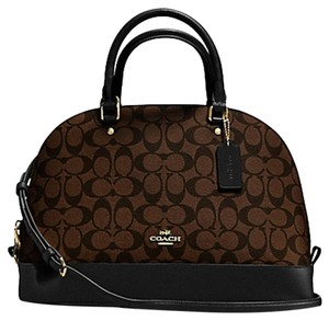 Coach Satchel in Signature black/brown