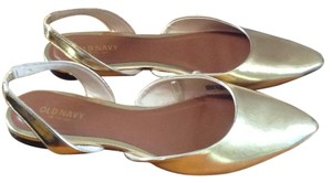 Old Navy D'orsay Slingback Gold Flats