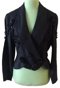 Chanel Vintage Beaded Black Blazer