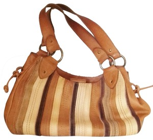 Fossil Satchel in Tan