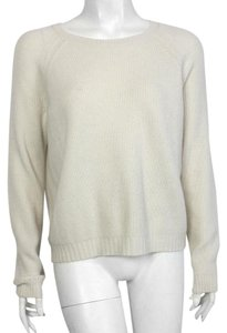 Vince Wool Cashmere Contrast Elbow Patch Sweater
