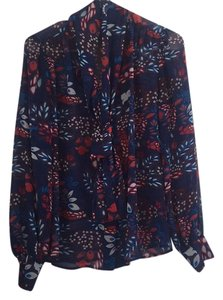 Eva Mendes New York & Company Top Navy blue and multi