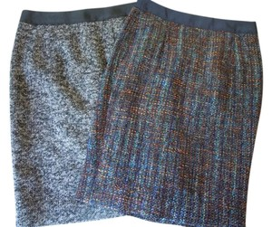 Boden Pencil Wool Skirt black blue