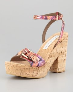 Stella McCartney Faux Python Multi-Color Sandals